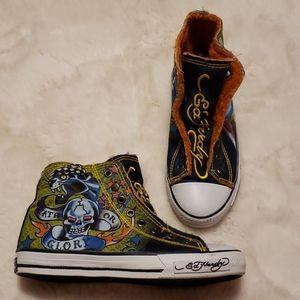 Ed Hardy Skull Shoes Size 6